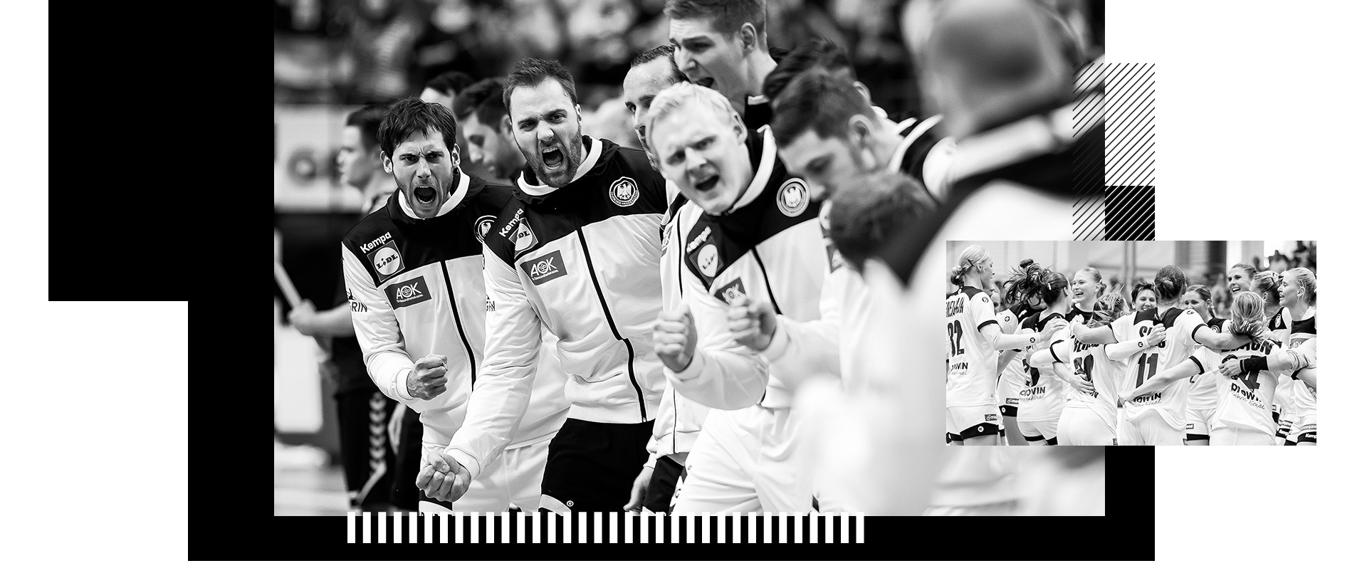 Kempa stattet die deutschen Nationalmannschaften der Herren und der Damen aus