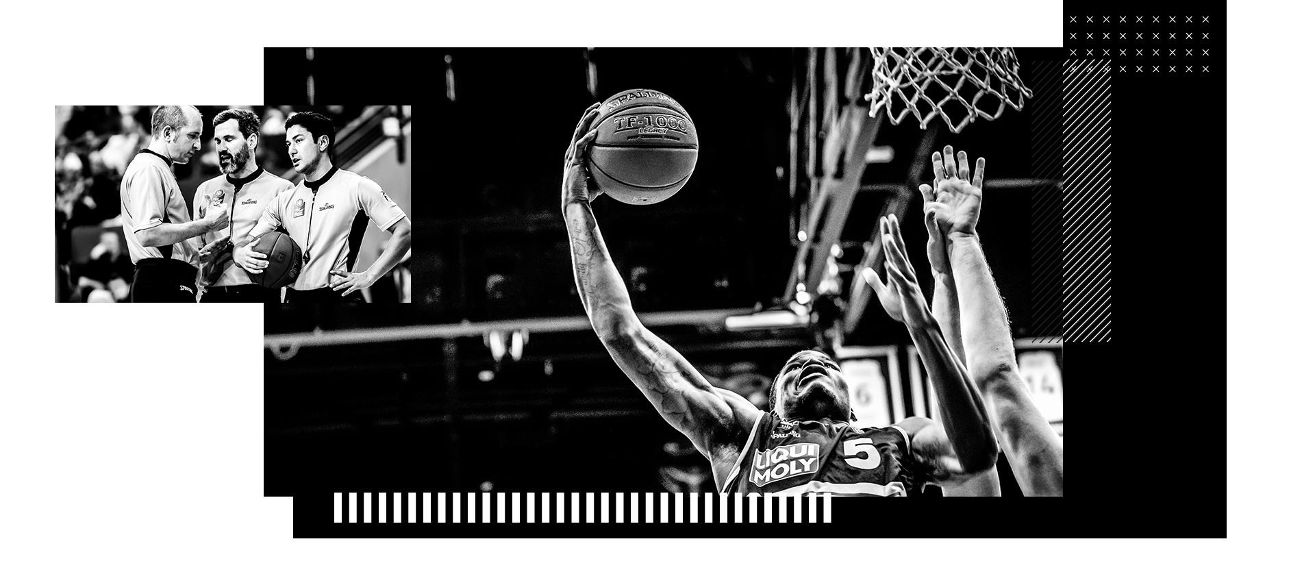 Spalding Basketbälle und Team Aparrel